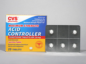 Cvs Acid Controller 20 Mg Tab White Round Tablet L194 Cvs 59779019402