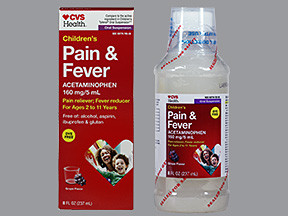CVS CHILD PAIN-FEVER 160 MG/5