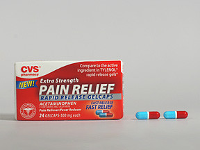 CVS PAIN RELIEF 500 MG GELCAP