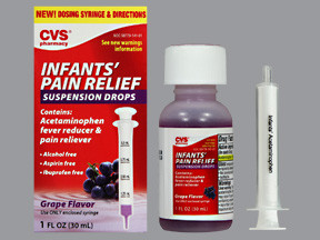 CVS INFNT PAIN RLF 160 MG/5 ML