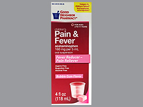 GNP CHILD PAIN-FEVER 160 MG/5