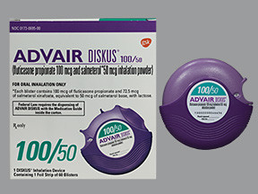 Advair 100 50 Diskus White Blister With Inhalation Device Glaxosmithkline 00173069500
