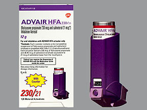Advair Hfa 230 21 Mcg Inhaler Colorless Hfa Aerosol With Adapter Glaxosmithkline 00173071720