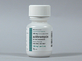 AZITHROMYCIN 100 MG/5 ML SUSP