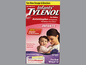 INFANTS' TYLENOL 160 MG/5 ML